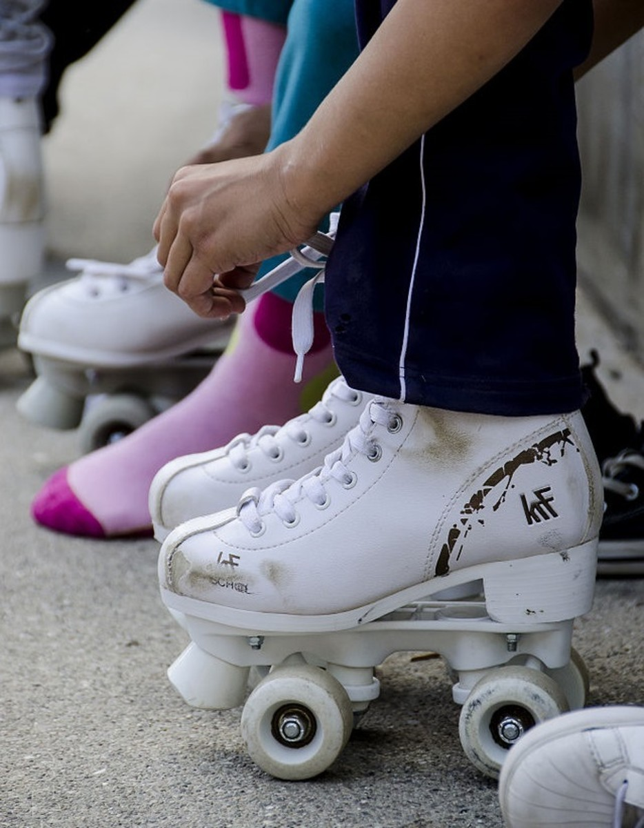 Roller skates! A popular toy among children right alongside the bicycle.