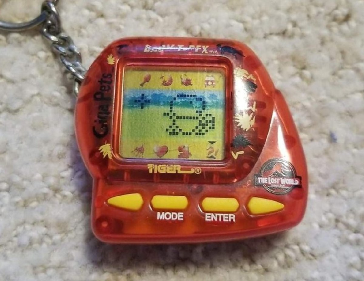 Giga pets also came as other animals besides the kitten or puppy. This particular one was a T-Rex.
