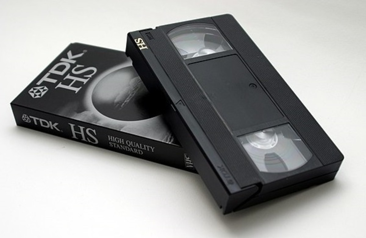 VHS! They have become obsolete and can now be categorized as a vintage item.