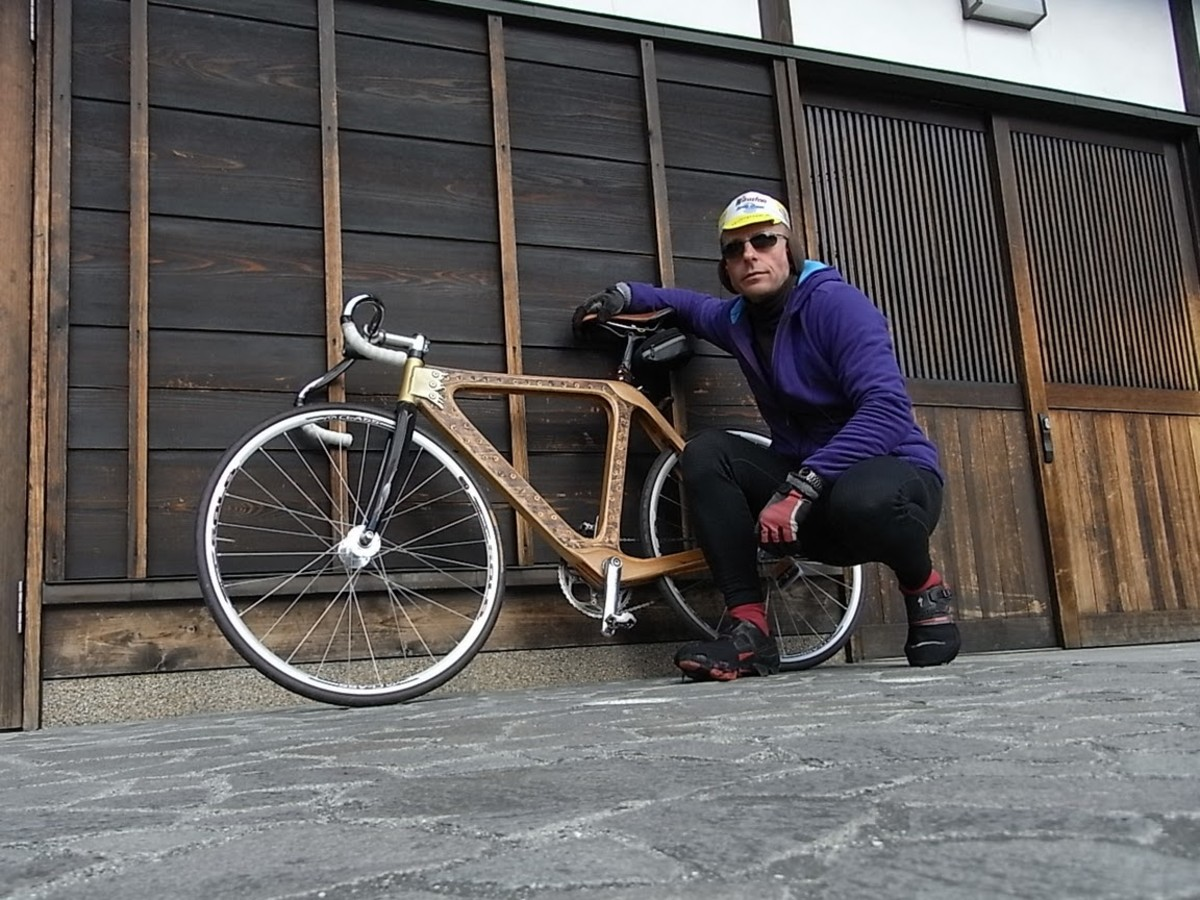 Gus and his Wooden bike