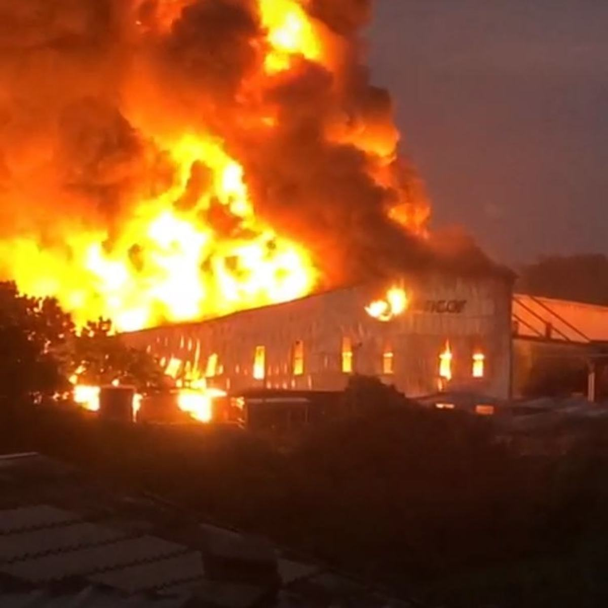 A food packaging company in Kwazulu Natal burned down to the ground