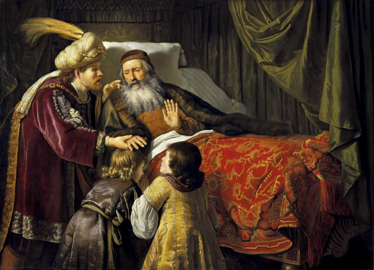 Jacob blessing Joseph's sons