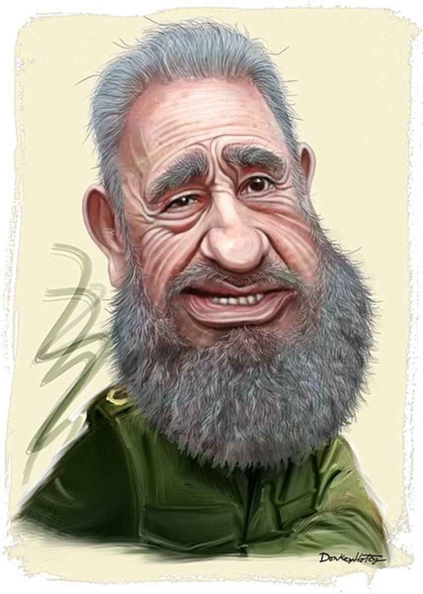 Fidel Castro caricature, by DonkeyHotey - CC BY 2.0