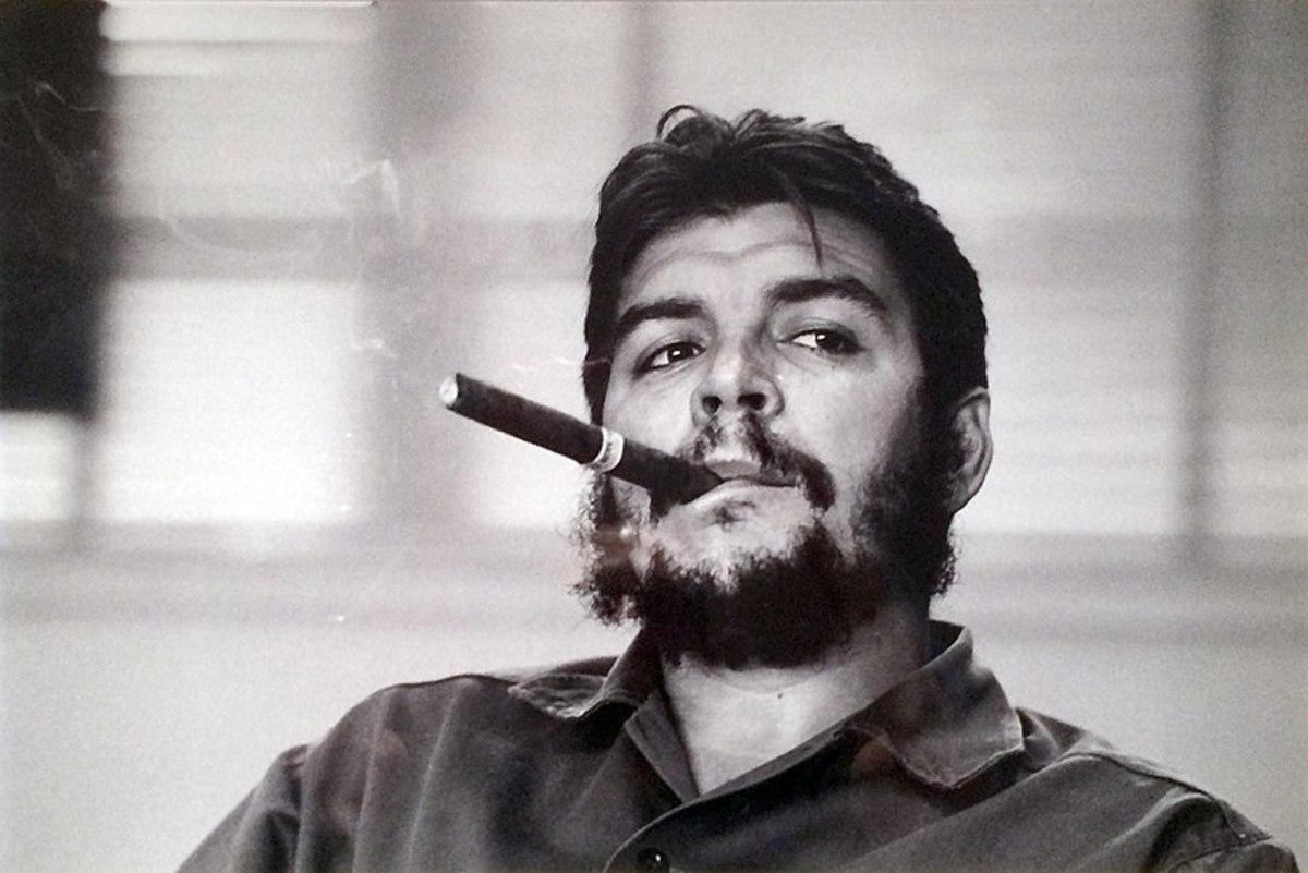 Che Guevara circa 1963, by Rene Burri - Public Domain