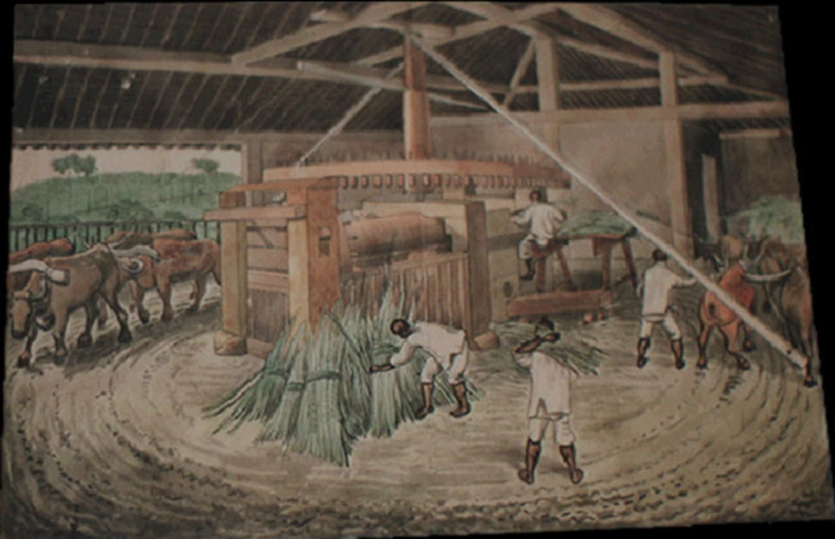 Brazilian Sugar Cane Mill, circa 1840 - Public Domain
