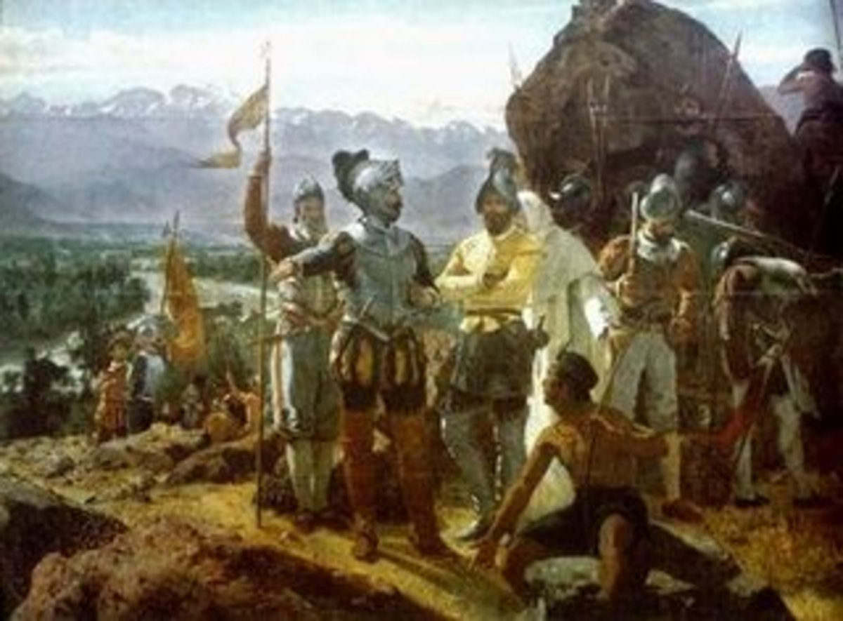 The Spanish arrive in the New World.