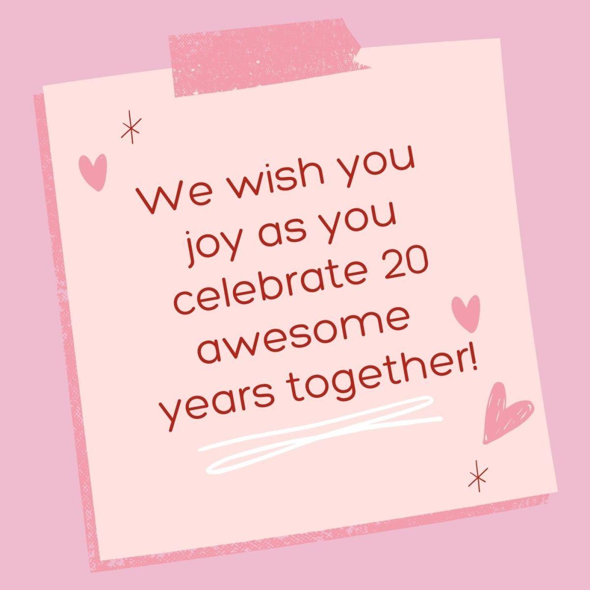We wish you nothing but joy!