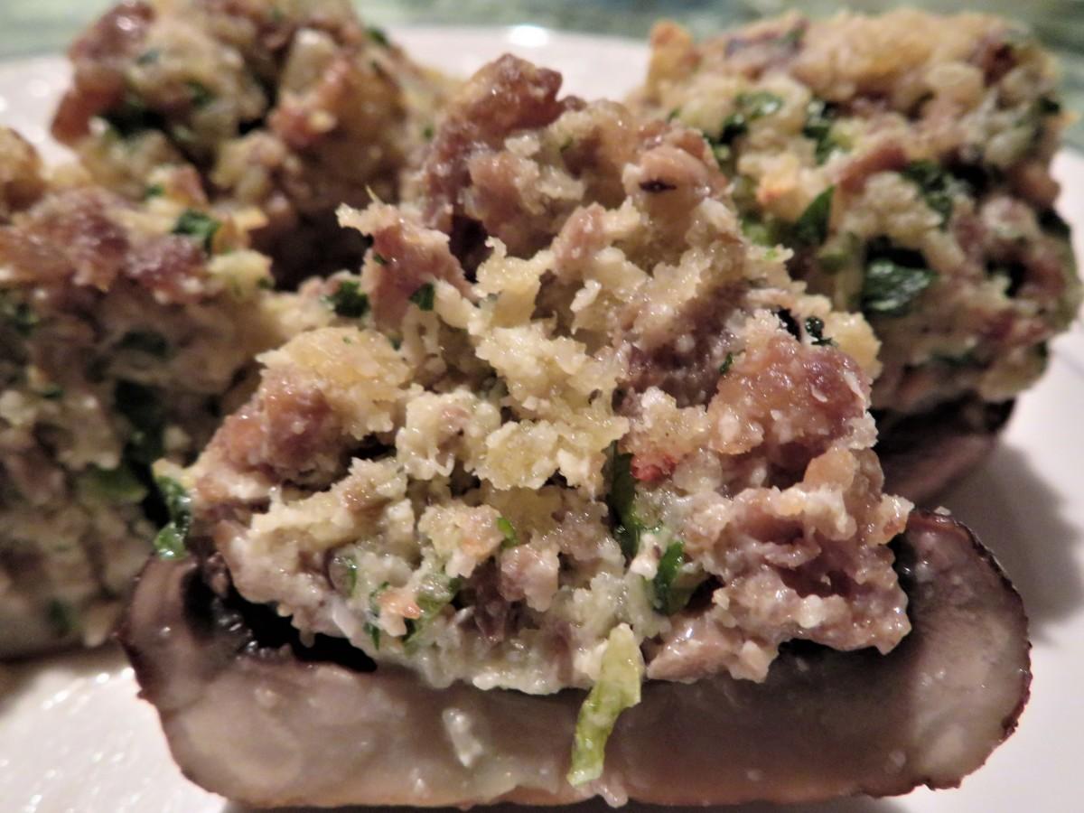 Italian sausage stuffed mushrooms