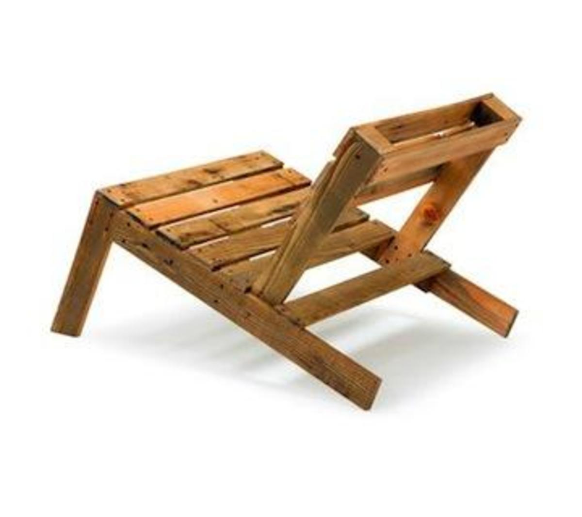 Pallet furniture is a great option for upcycled furniture!