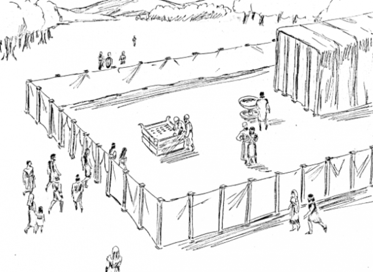Tabernacle, Priests, and Sacrifices Coloring Pages