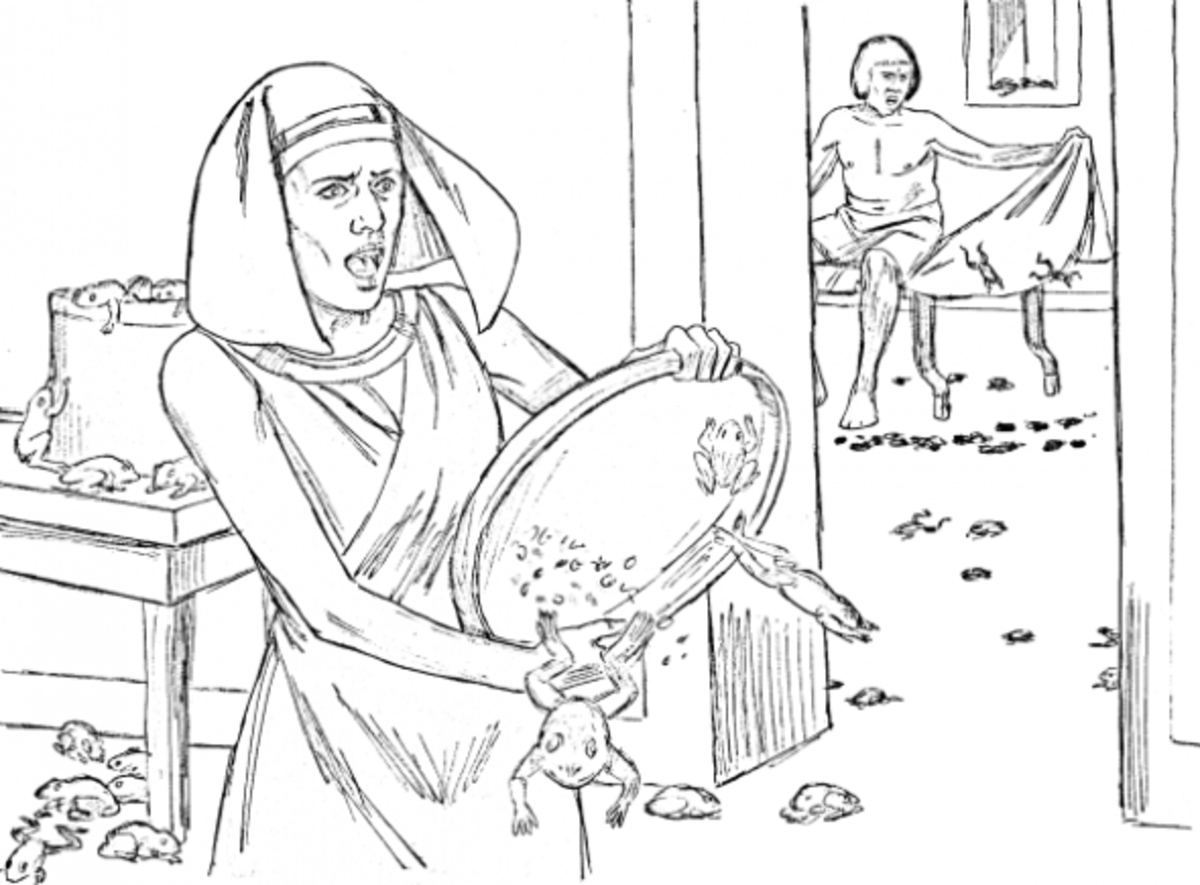 Moses bible study for kids for 10 plagues coloring pages