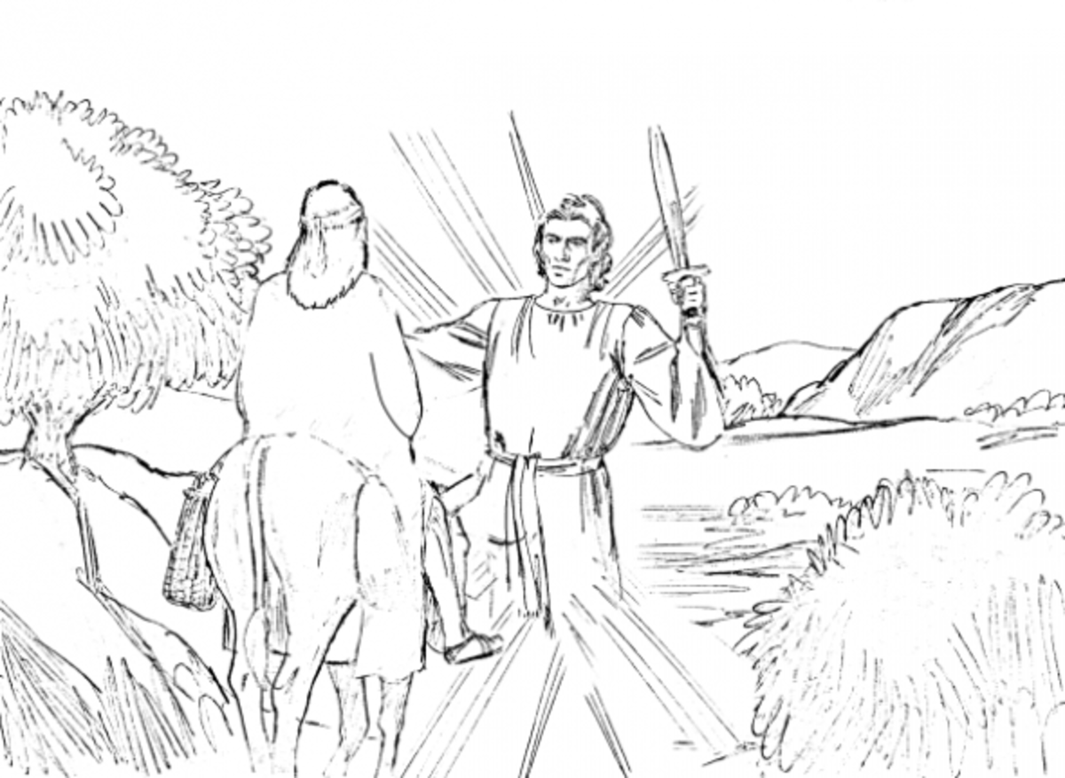 coloring pages balaams donkey - photo#19