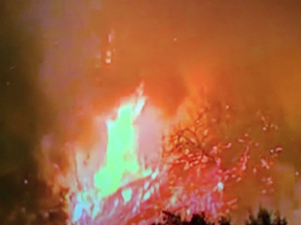 Destructive fires across the west.