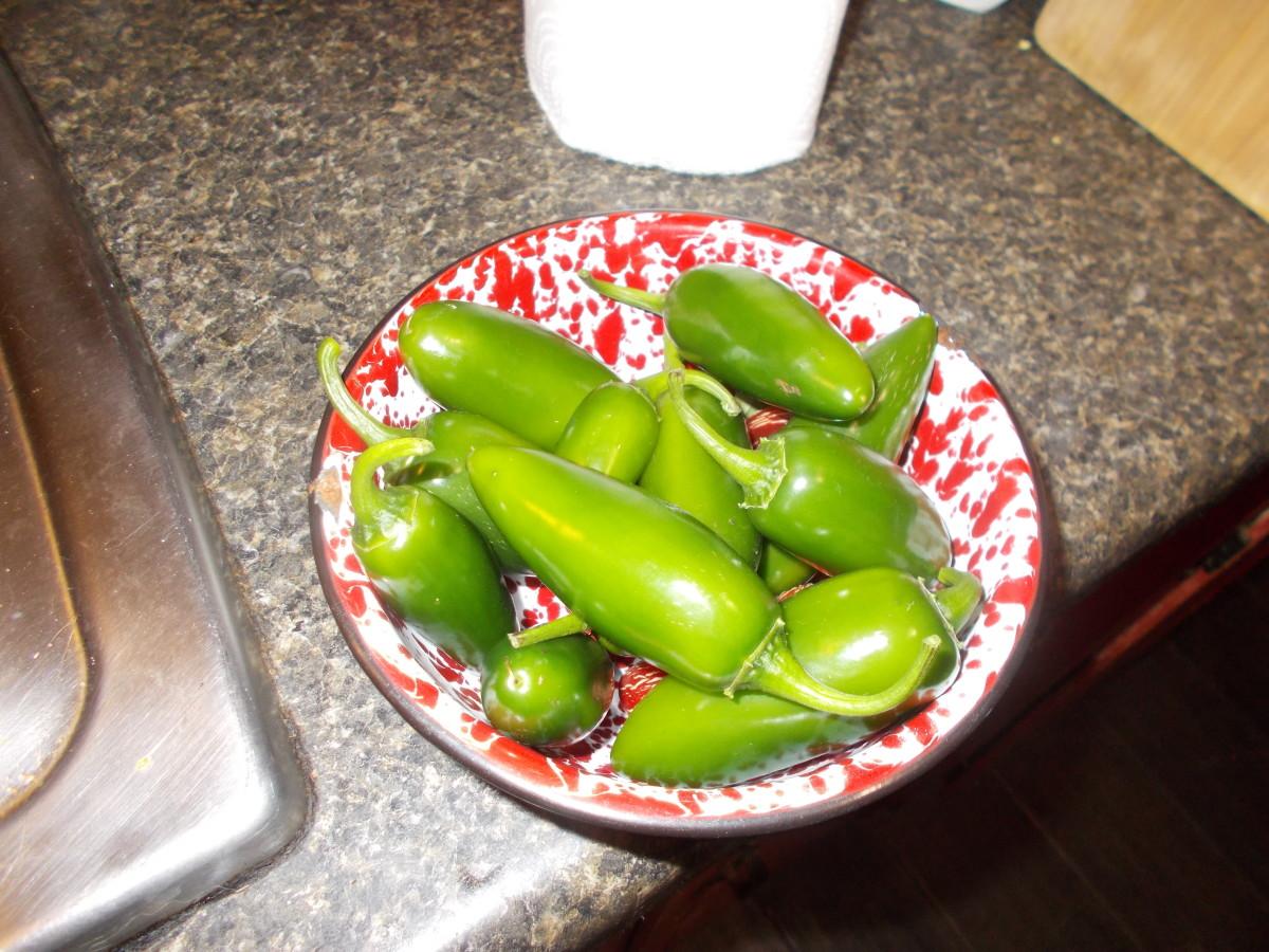 I grow my own jalapeño peppers.