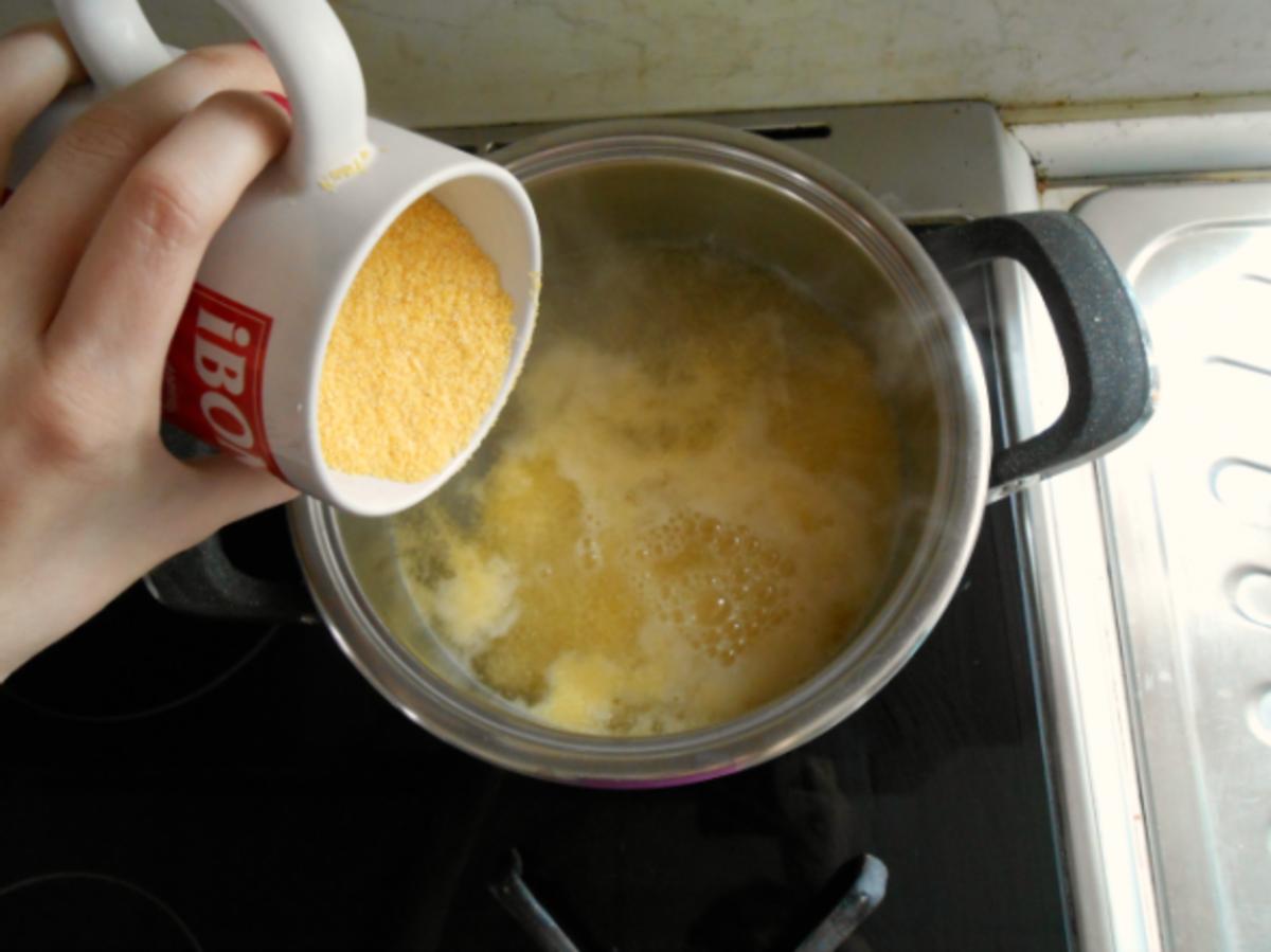 Cook the polenta