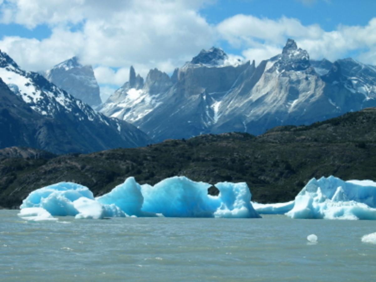 Icebergs from Grey Glacier