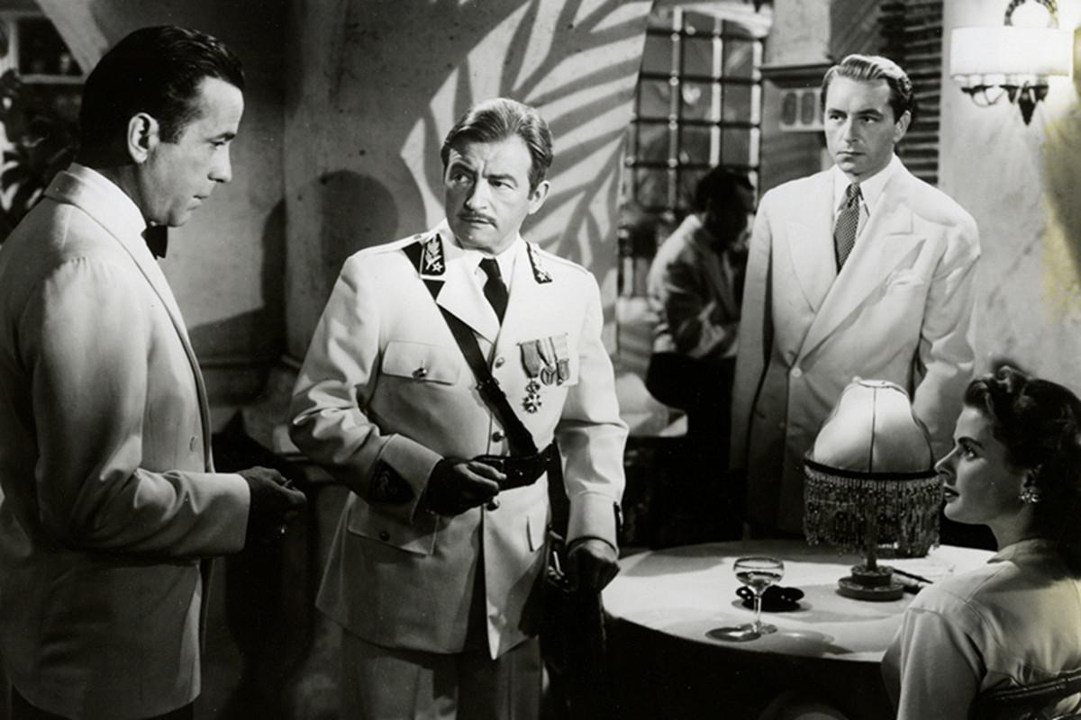 Humphrey Bogart, Claude Rains, Paul Henreid, and Ingrid Berman
