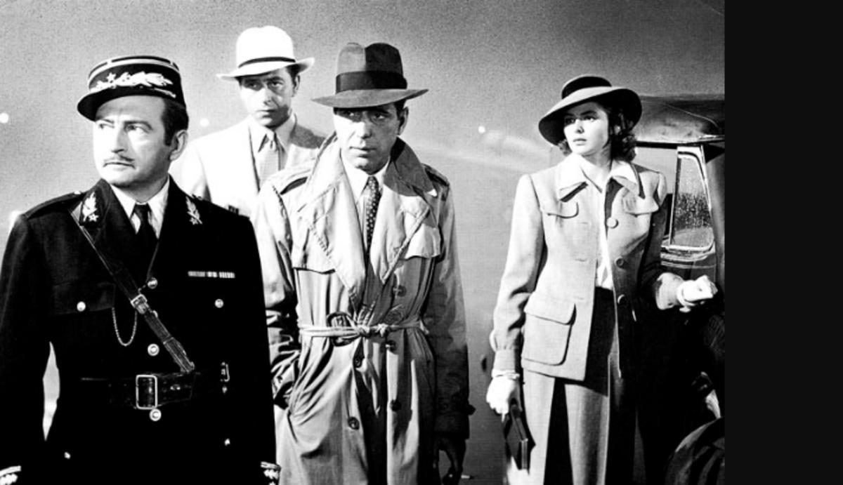 Claude Rains, Paul Henreid, Humphrey Bogart and Ingrid Bergman