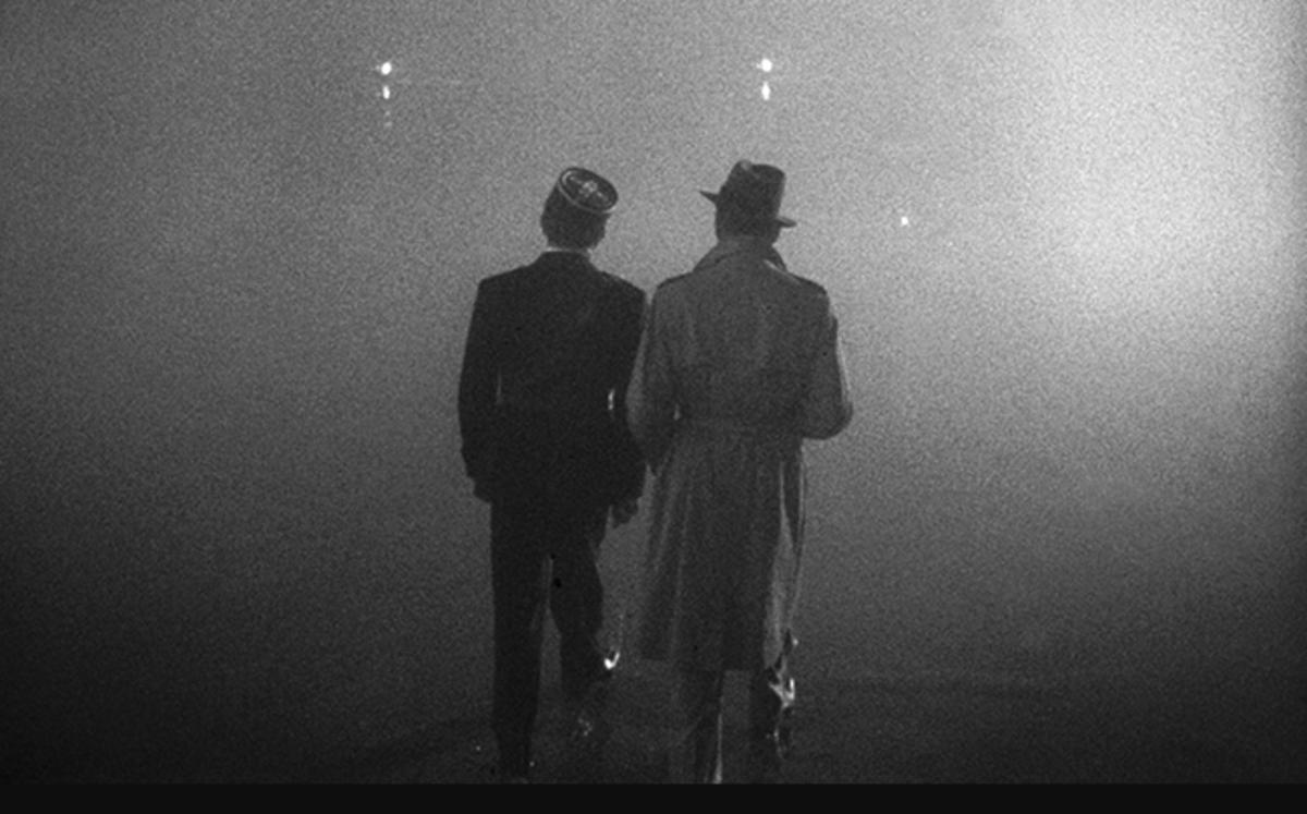 Final Scene  Claude Rains and Humphrey Bogart