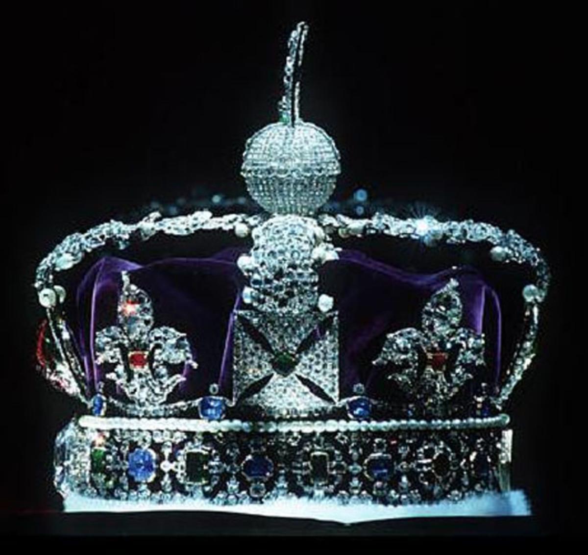 Kohinoor embedded in Imperial State Crown
