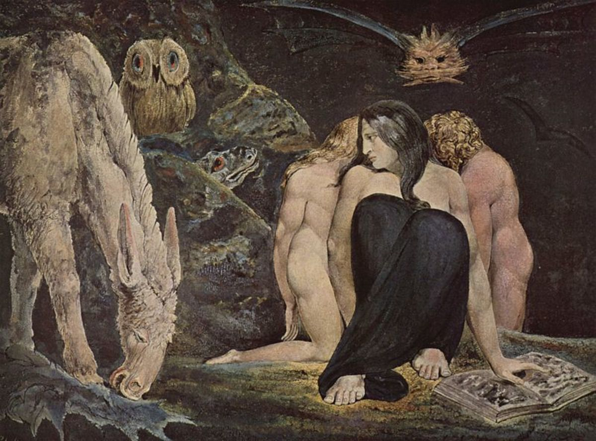 Hecate, or The Night of Enitharmon's Joy by William Blake (Tate Gallery).