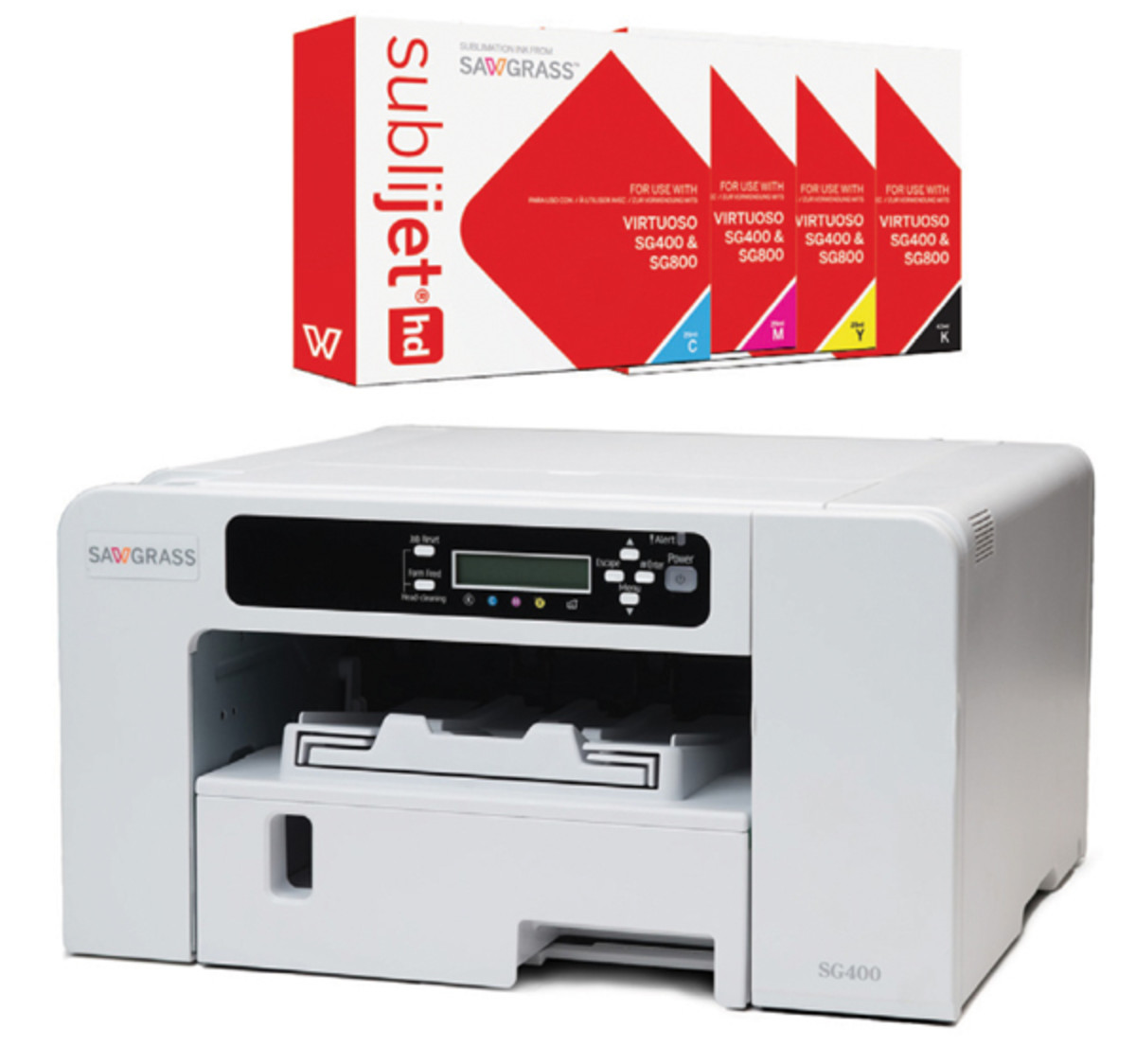 Some printers like the Sawgrass are dedicated to sublimation printing