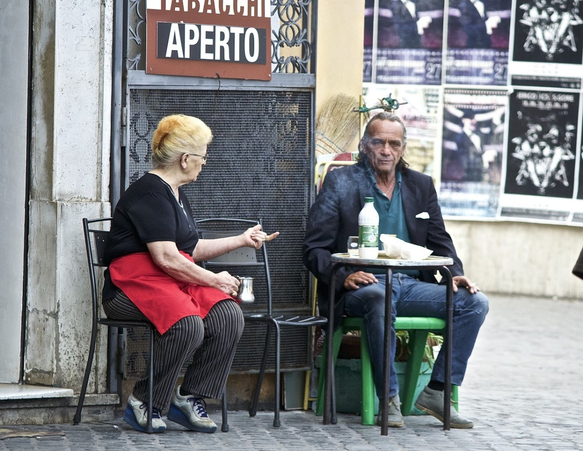 Rome's many bars are more than a place to get coffee, but are central to most people's social life.