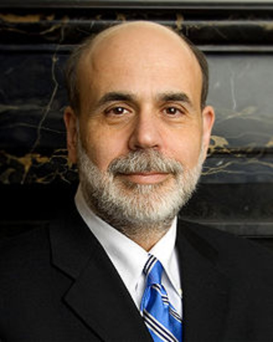 BEN BERNANKE, CHAIRMAN, FEDERAL RESERVE - STARTED TO FOLLOW IN GREENSPAN'S FOOTSTEPS (SAME ECONOMIC PHILOSOPHY) BUT PROPERLY READ THE TEA LEAVES AND BEGAN IMPLEMENTING POLICIES TO MITIGATE A DEPRESSION