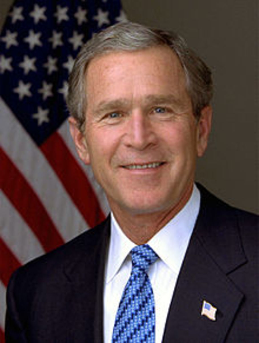PRESIDENT GEORGE W. BUSH. POTUS #43-PROMOTED THE ECONOMIC POLICIES LEADING TO THE RECESSION BUT MADE THE DECISION TO SET-UP TARP AND THE AUTO BAIL-OUT, BOTH CRITICAL TO PREVENTING A DEPRESSION