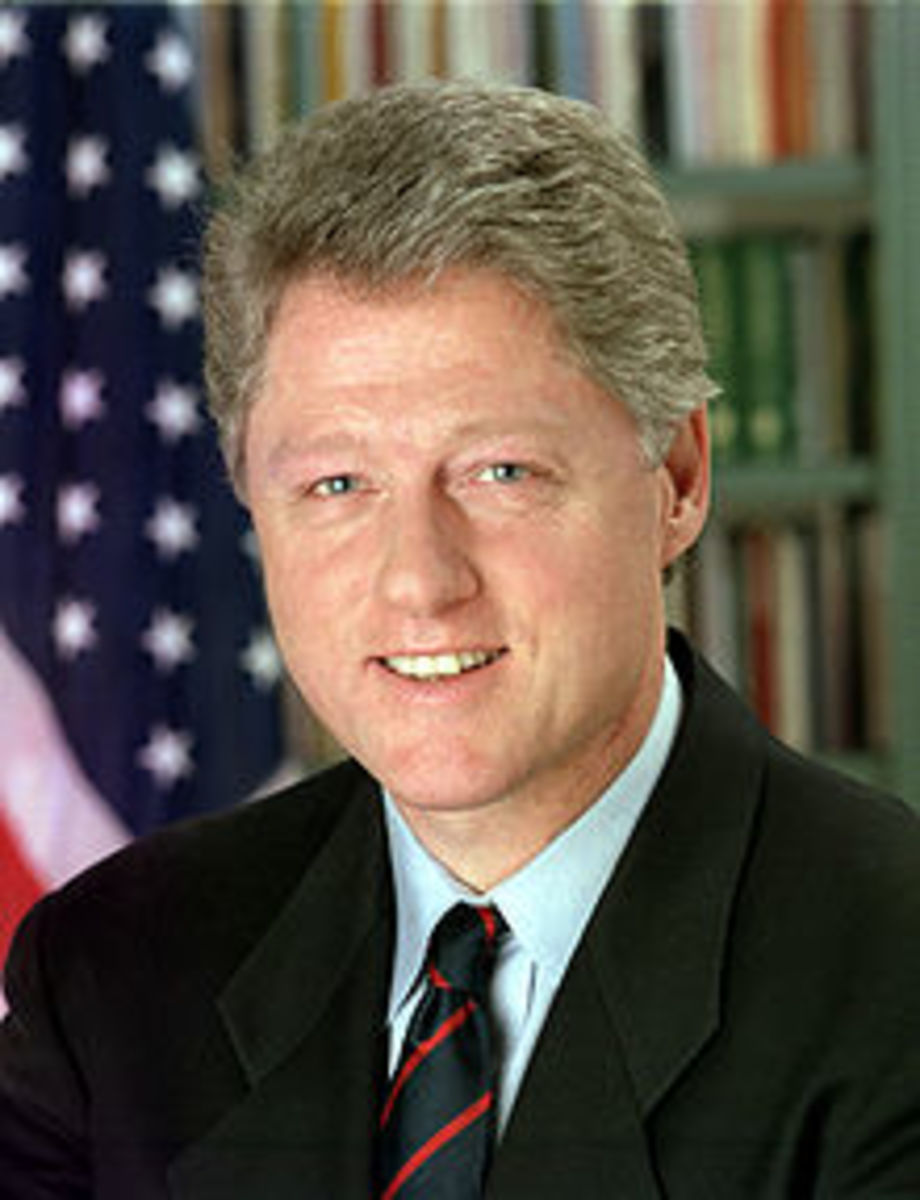 PRESIDENT CLINTON, POTUS #42 - SIGNED THE LAW THAT REPEALED THE GLASS-STEAGALL ACT OF 1937