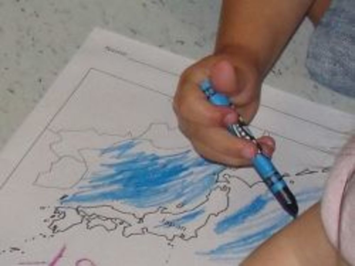 Coloring a map of Japan
