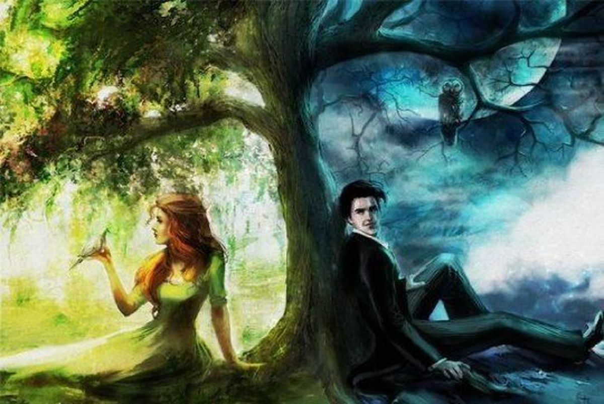 Light and dark. Life and death. Fire and ice. Spring and winter. A beginning and an ending. Love and hate. Divided, but somehow complementing one another.