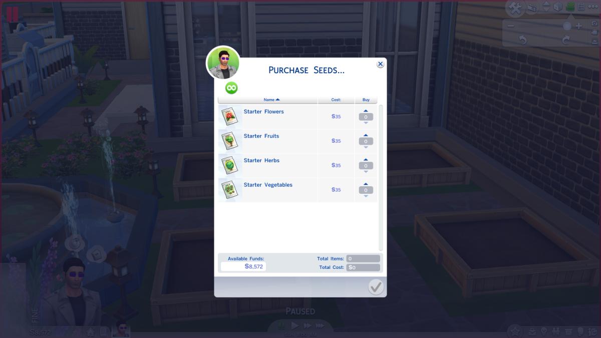 """Sims 4"" starter seeds pack."