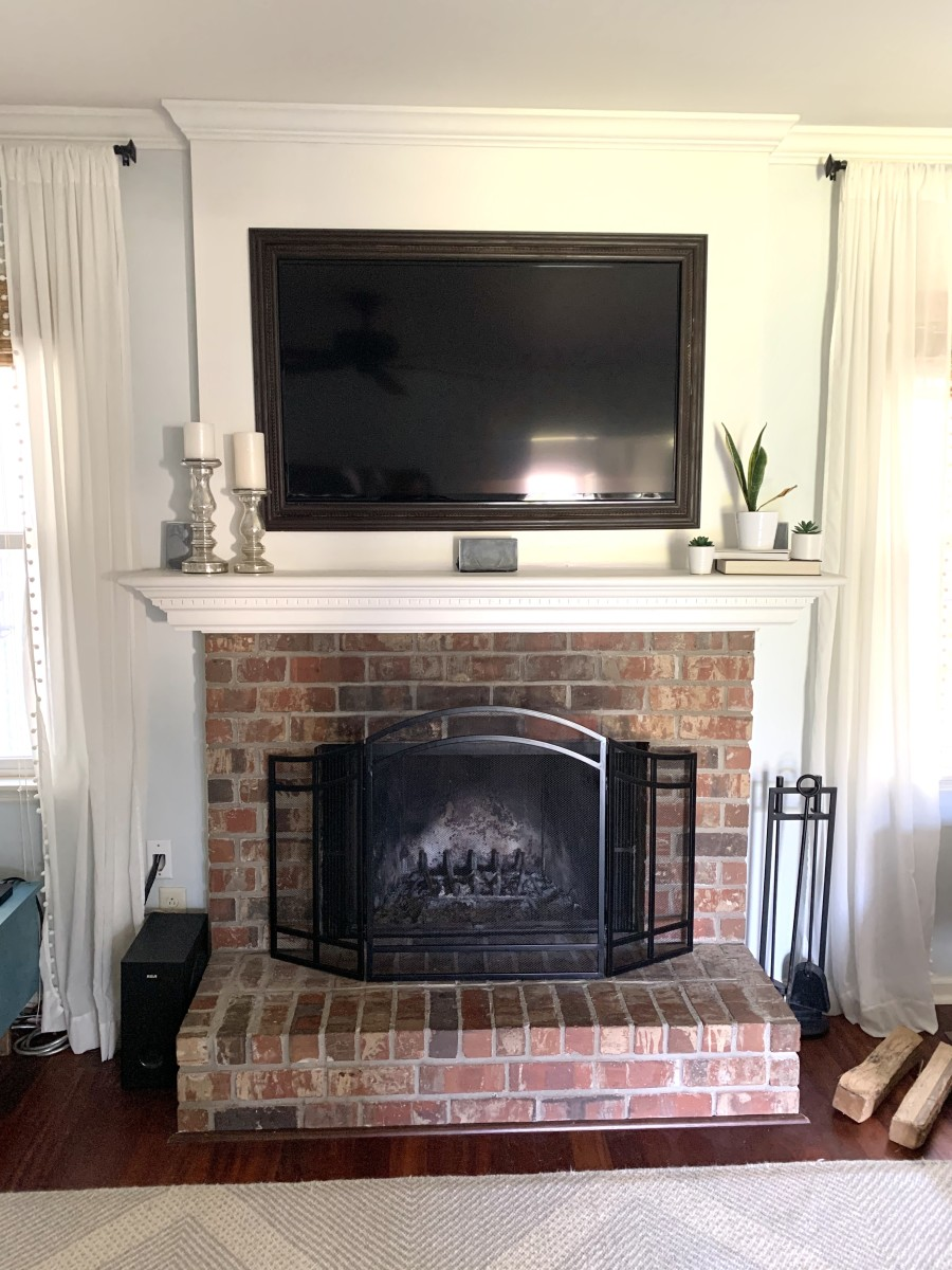 How I Painted My Brick Fireplace Black in 3 Easy Steps