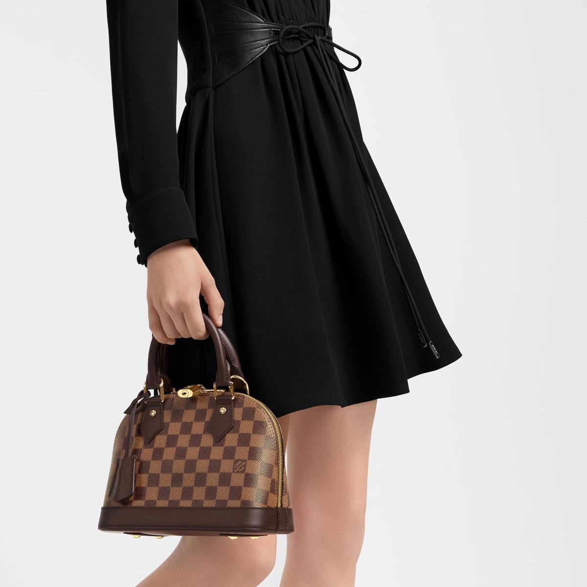 Louis Vuitton Alma in Damier Ebene BB size