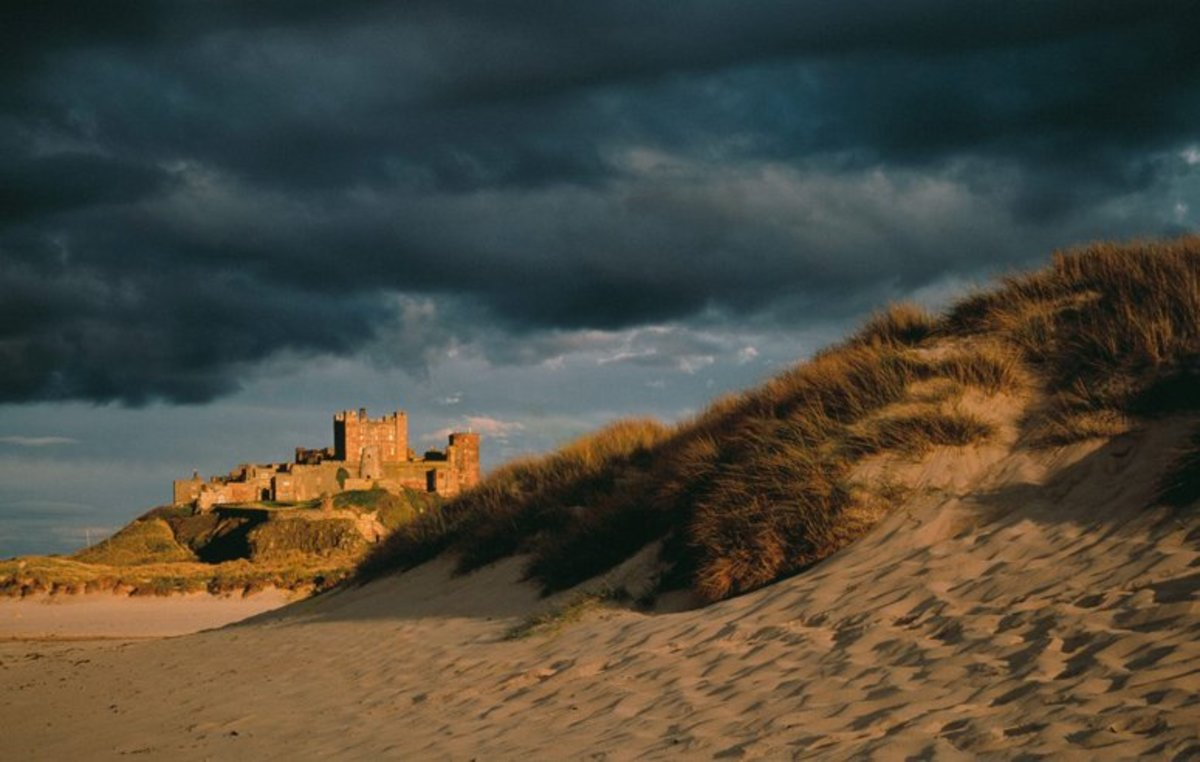 Castle and dunes - the castle you see now dates back only to post-Norman times