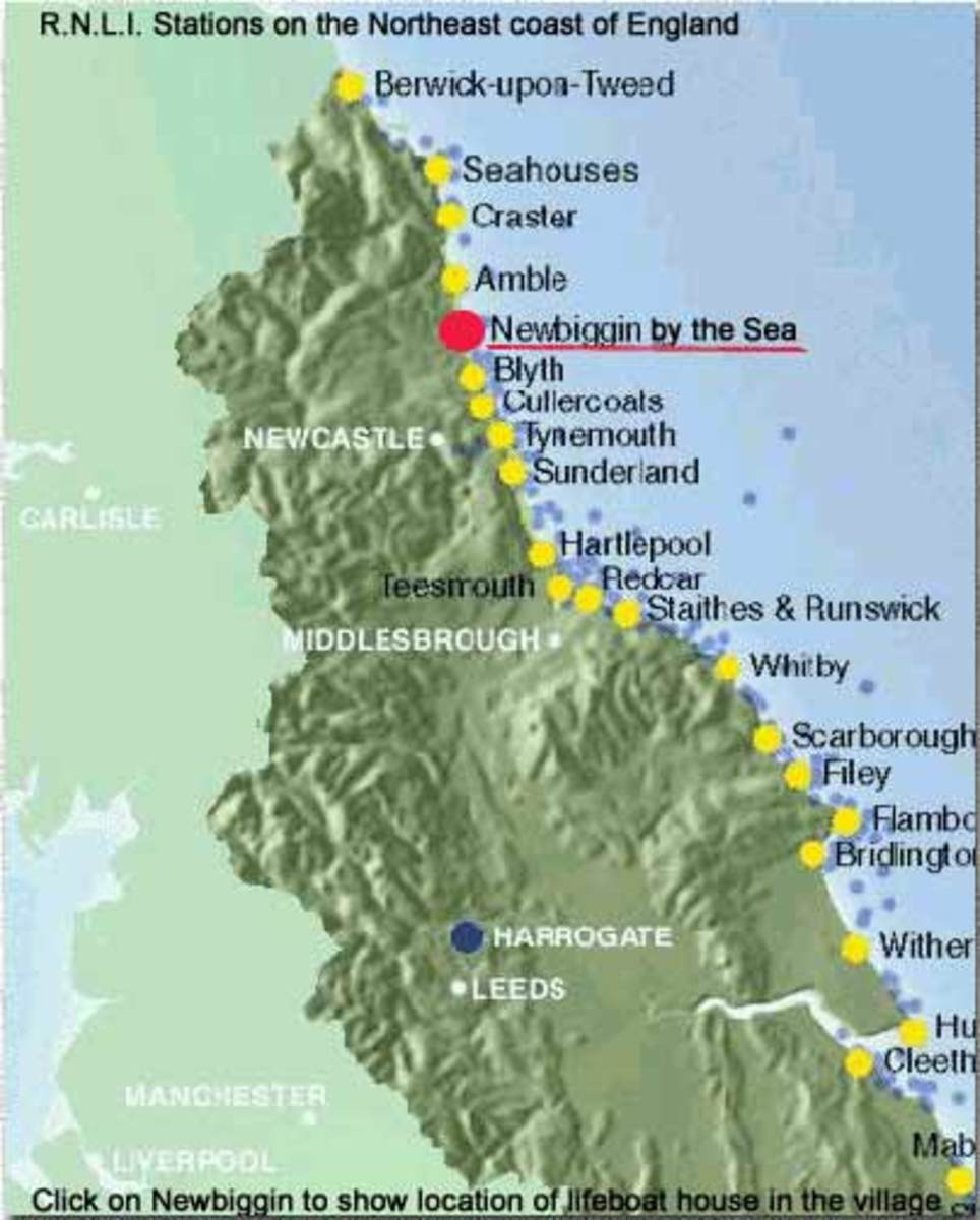 RNLI Lifeboat stations in the North East of England - Seahouses is probably closest to where Grace Darling lived