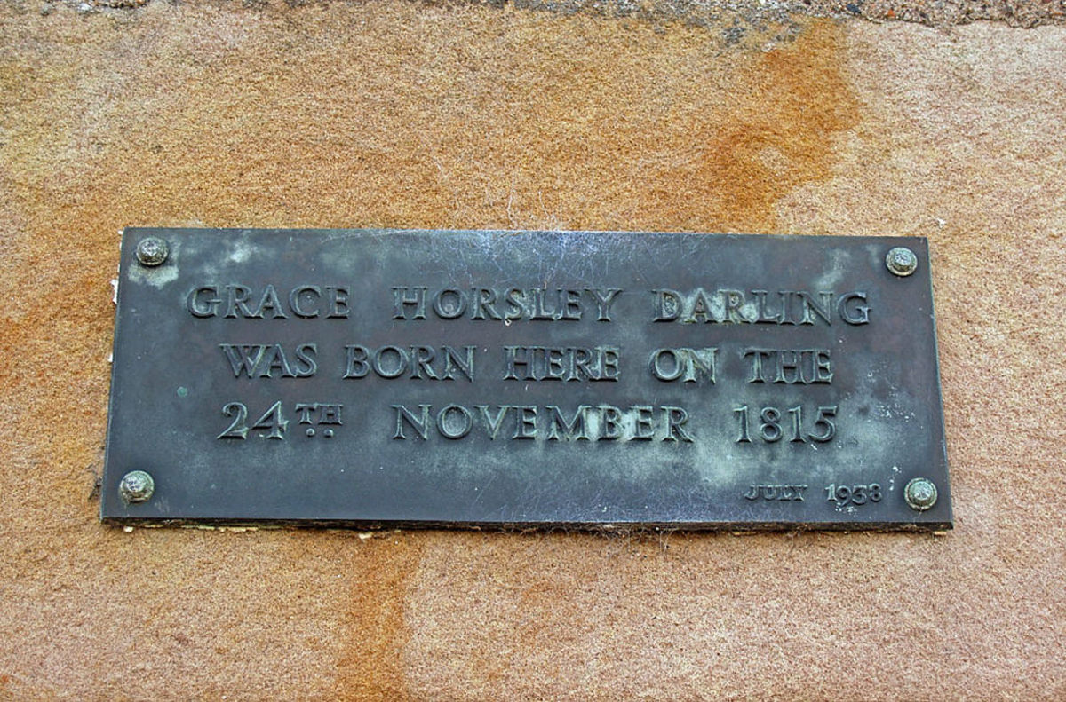 Grace Darling birthplace plaque, Bamburgh