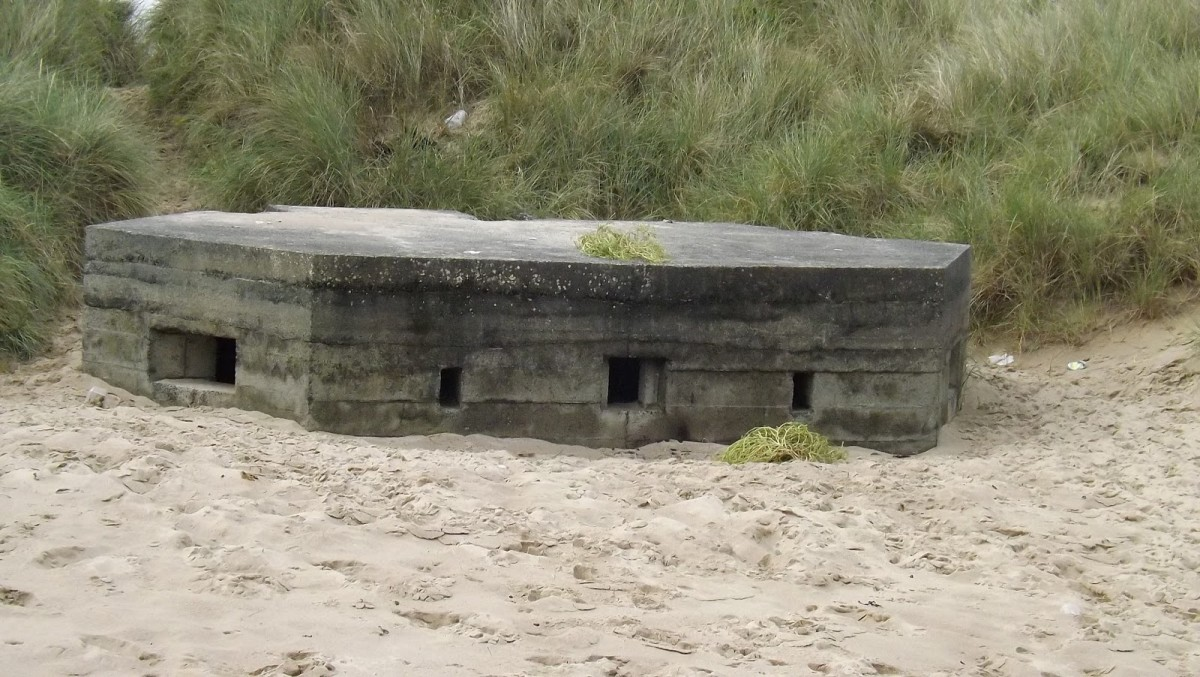 One of several military bunkers of different shapes and sizes, scattered along the coast here near Bamburgh to avert possible German landings in WWII
