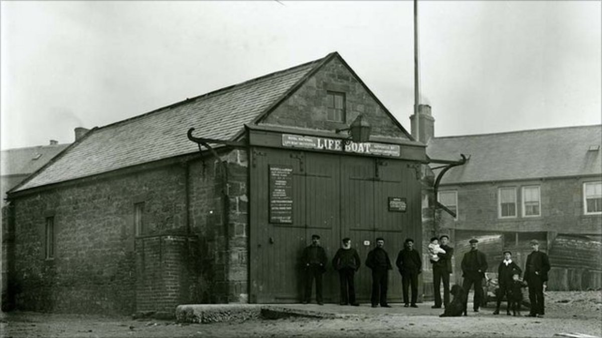 Newbiggin Lifeboat Station in early days