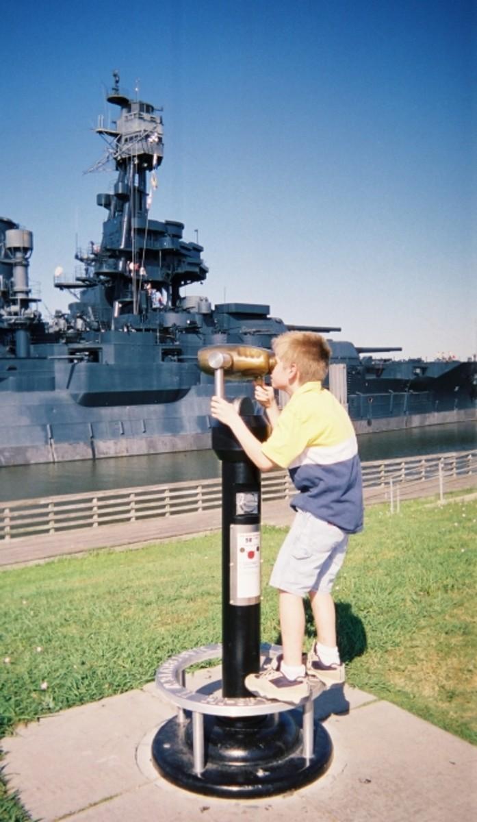 Viewing the Battleship TEXAS