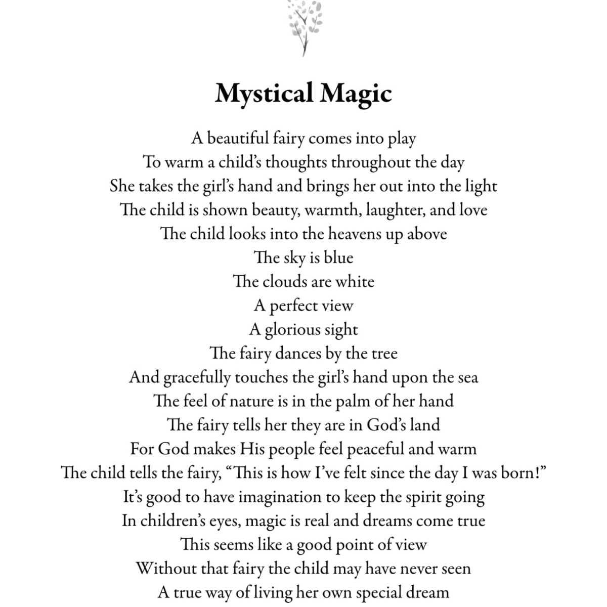 A rhyming poem my me.