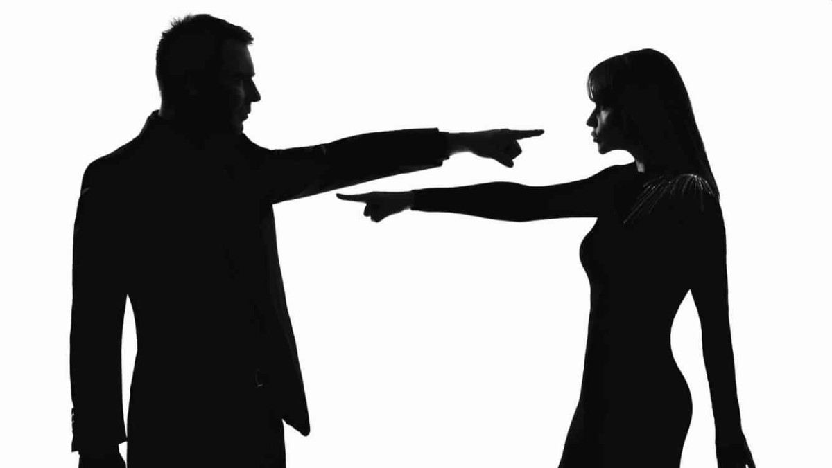 Image of a man quarrelling with a woman