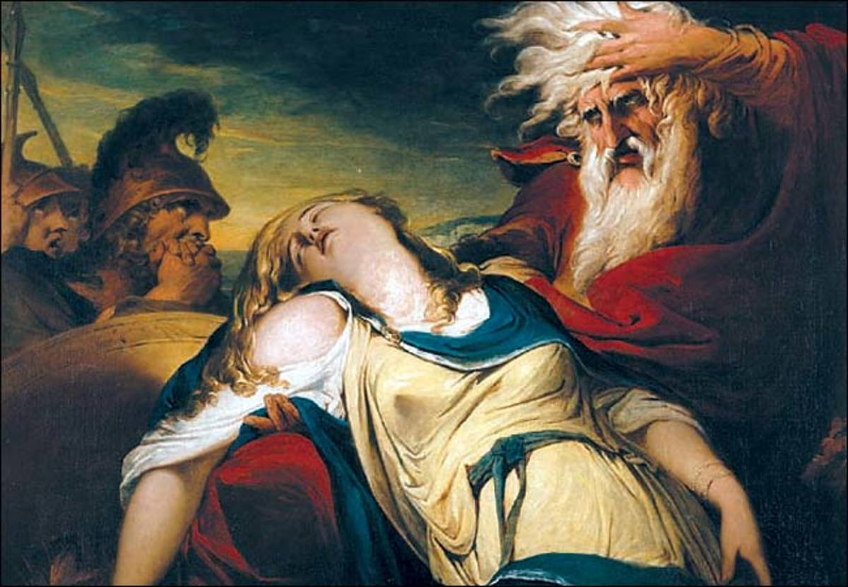 "James Barry, ""King Lear Weeping Over the Death of Cordelia"" (1786-87)"