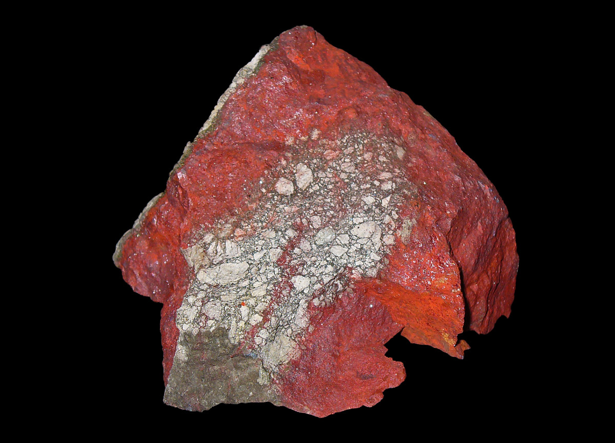 Often reddish or brown in color, cinnabar gets its name from the resemblance in its color to that of cinnamon.