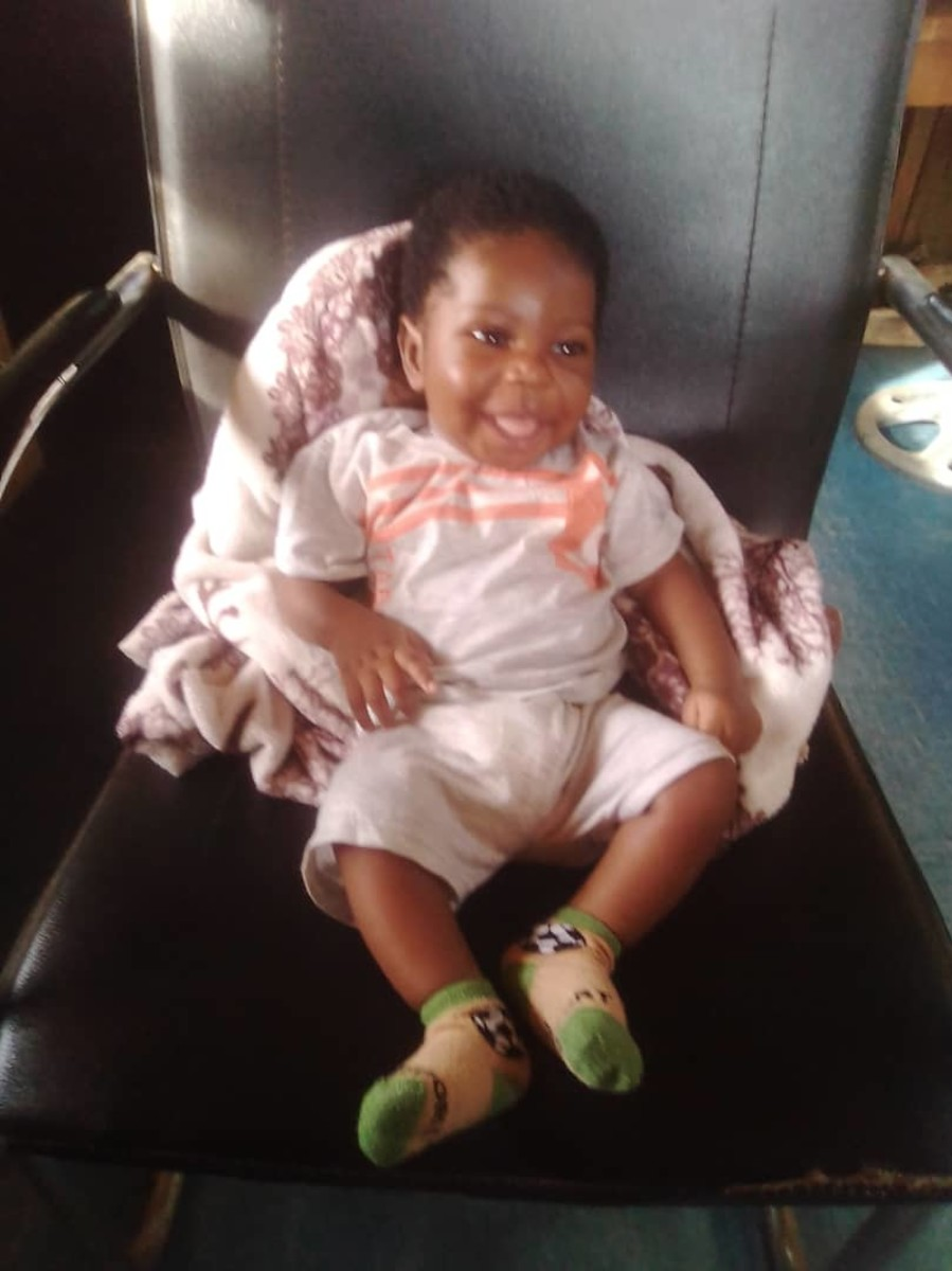 Baby Enoch Ogundare at age 60days...