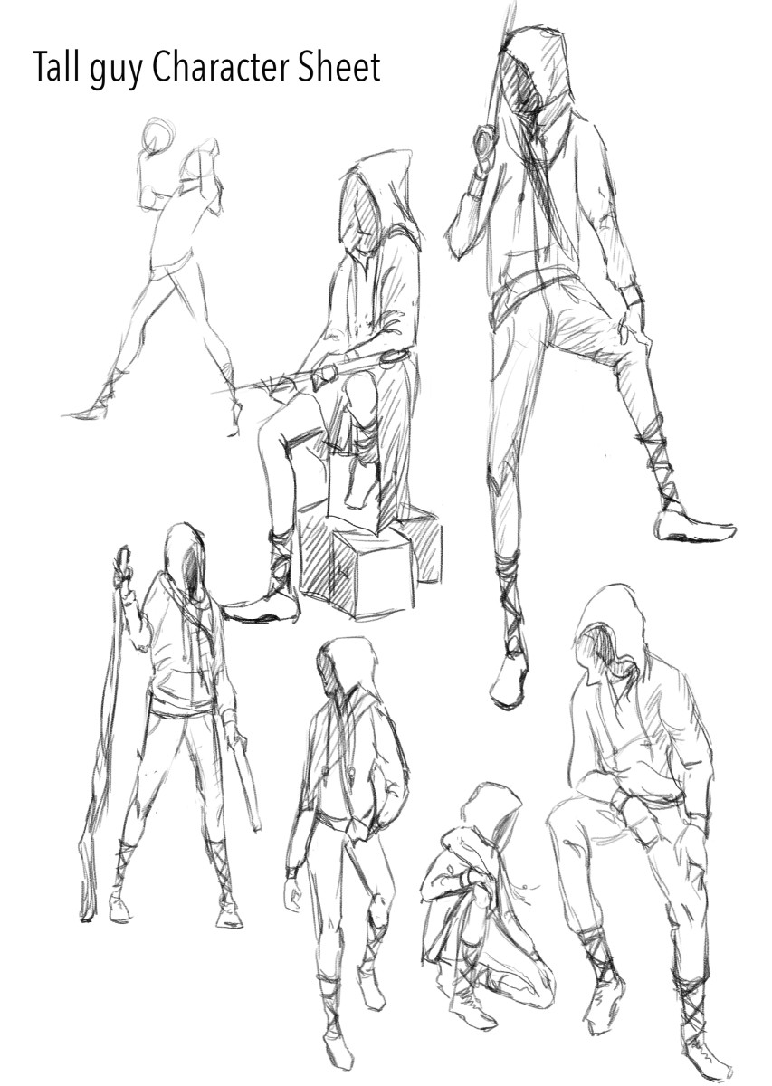 Characterizations for a young adult novel.