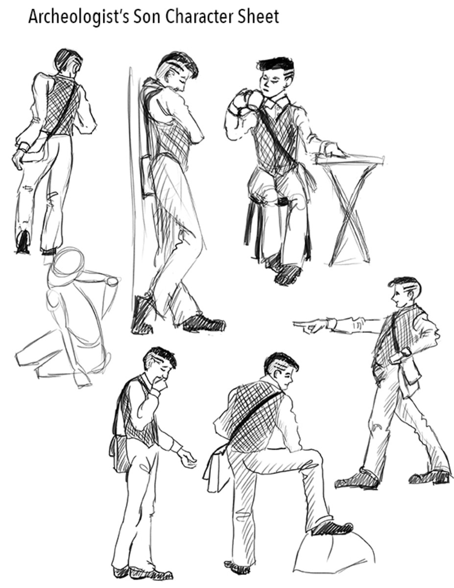 Characterizations for a young adult book.