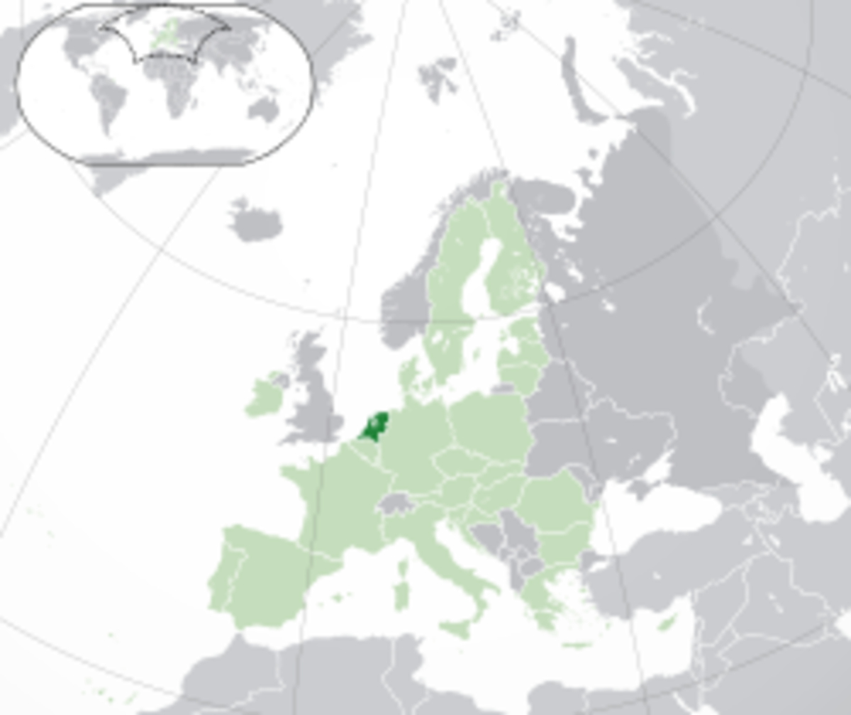 Location of the Netherlands in Europe