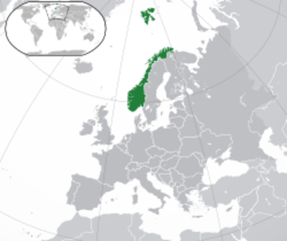 Location of Norway in Europe